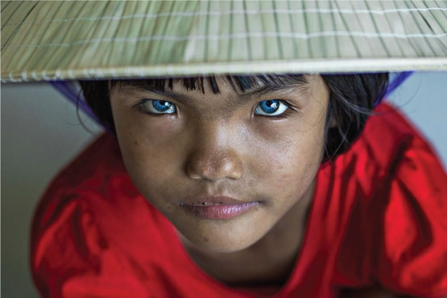 AN PHUOC, A VIETNAMESE WITH BLUE EYES