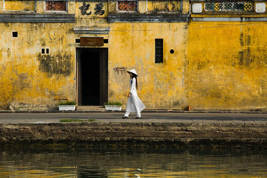 ao dai hoi an vietnam tradition culture rehahn lifestyle photograph